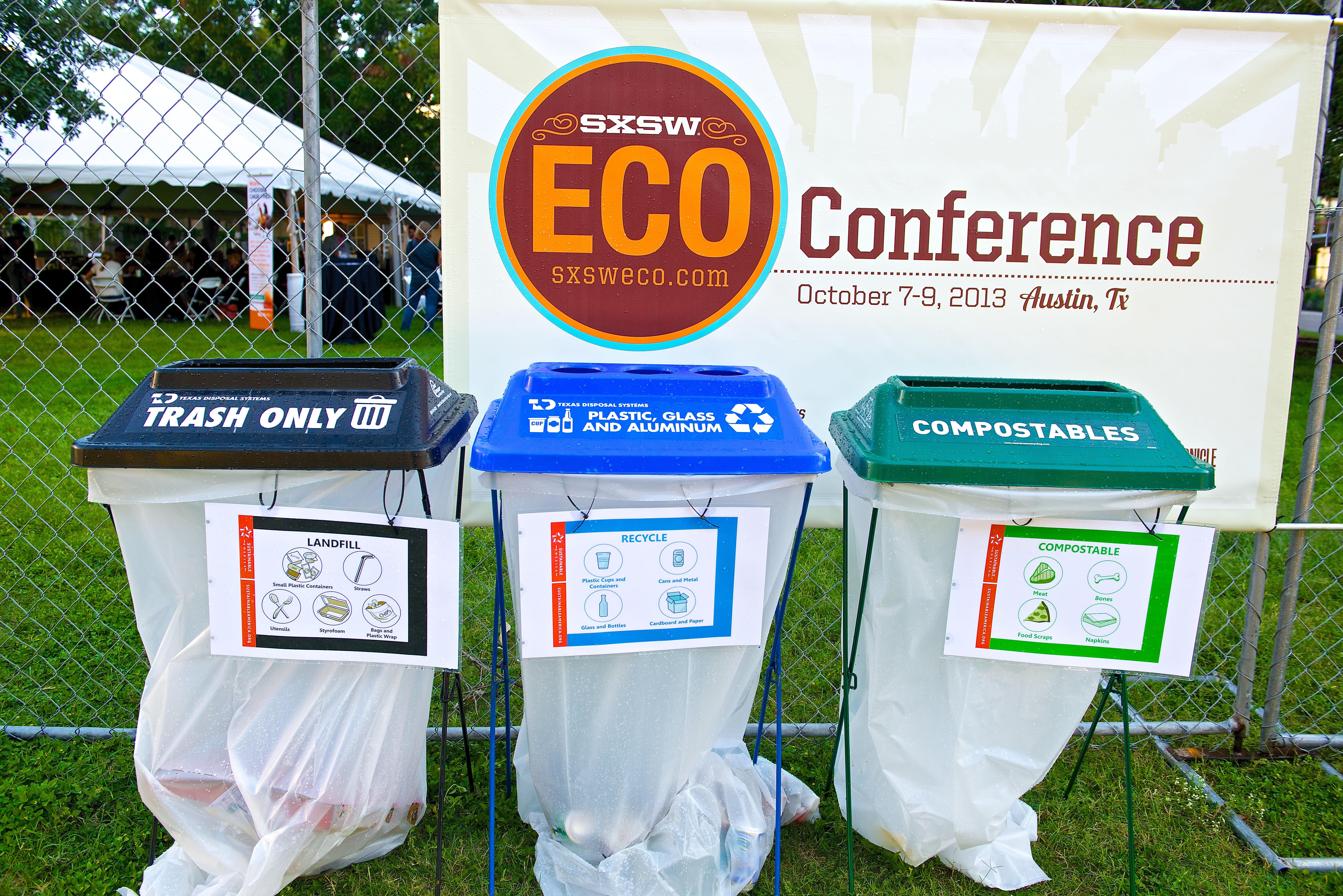 food waste bins at SXSW Eco