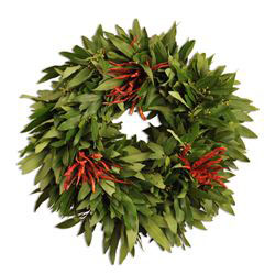 Organic Bay Leaf Wreath with Chilies
