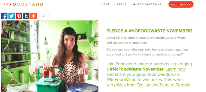 Join Us and Foodstand for #NoFoodWaste November!