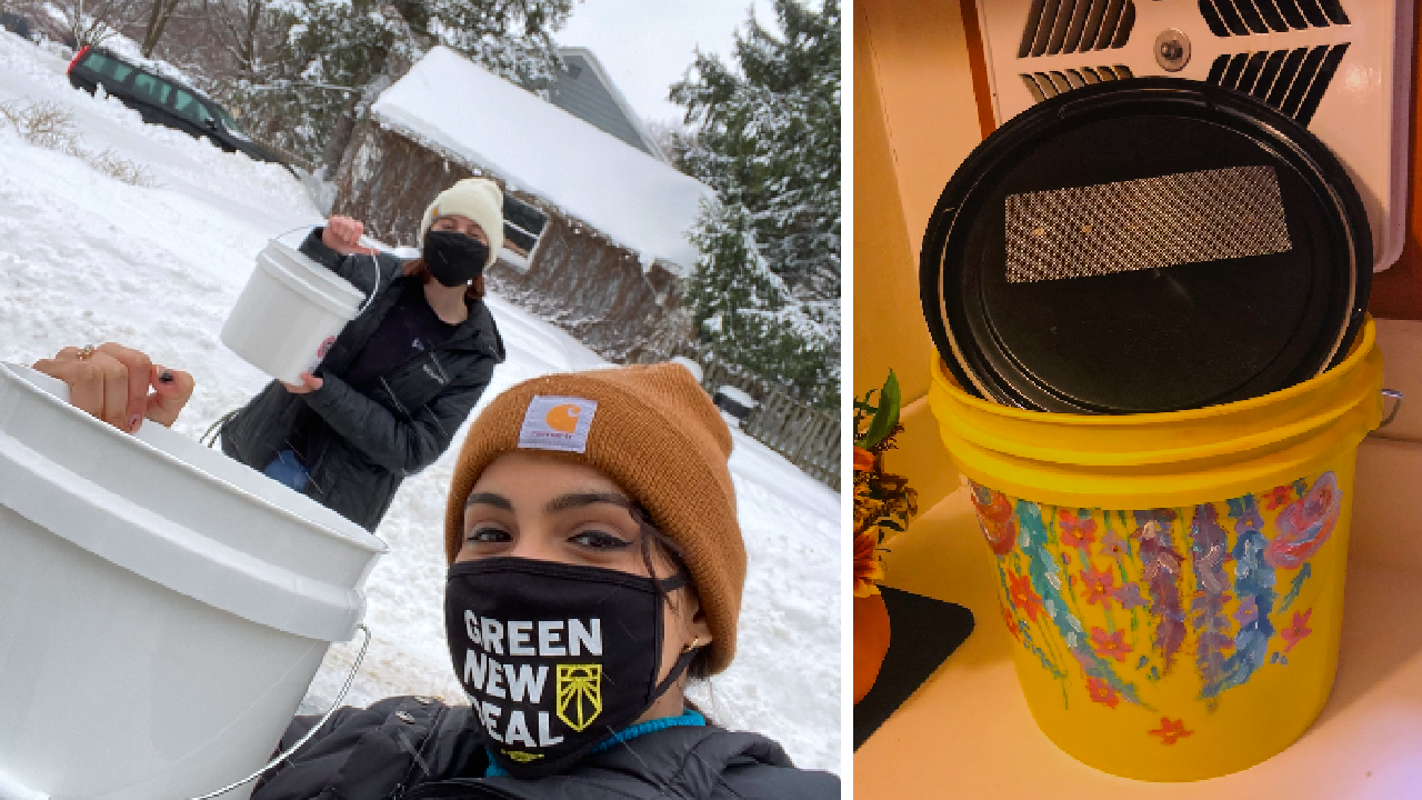 High Schoolers Make Compost Buckets for a Cause: Community Changemakers