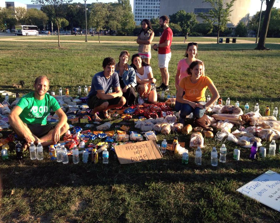 Rob Greenfield recovered wasted food in Washington DC