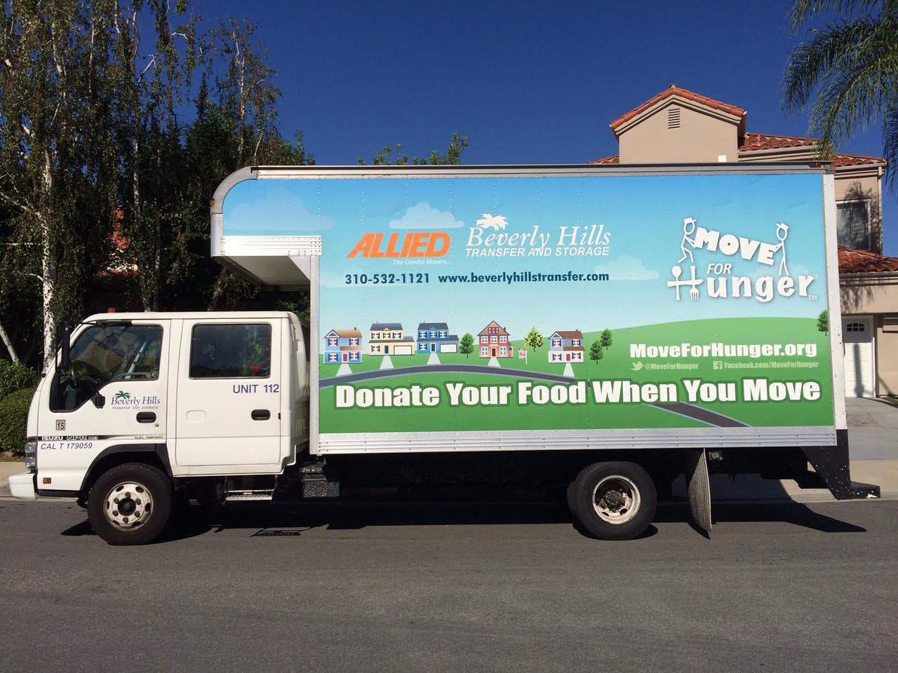 Donate your food when you move