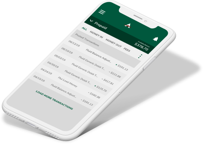 Image of mobile phone showing transactions