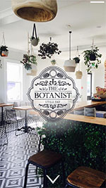 The Botanist home page on a phone