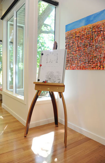 Easel at The Gallery Olinda