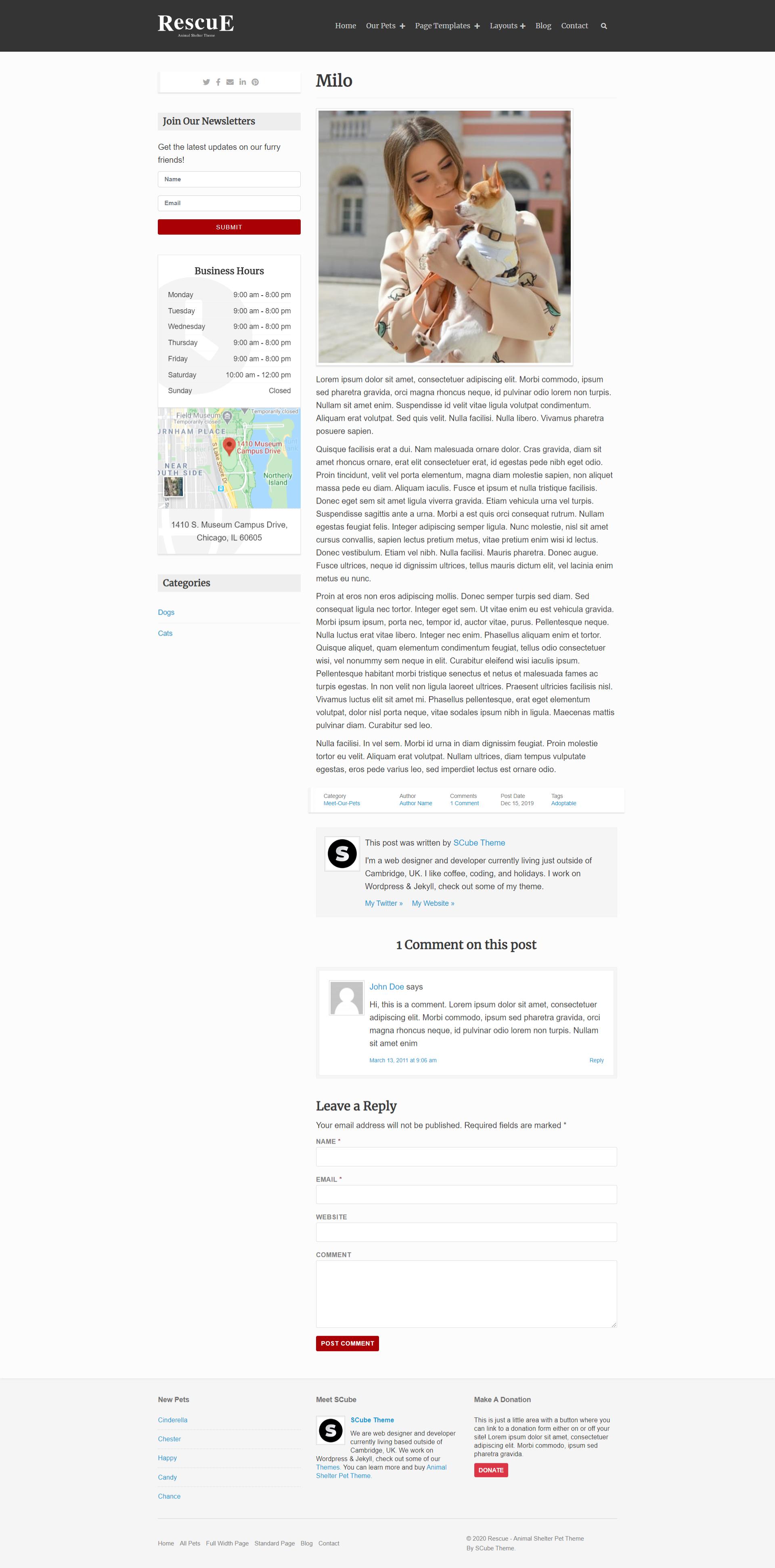 Blog Left Sidebar