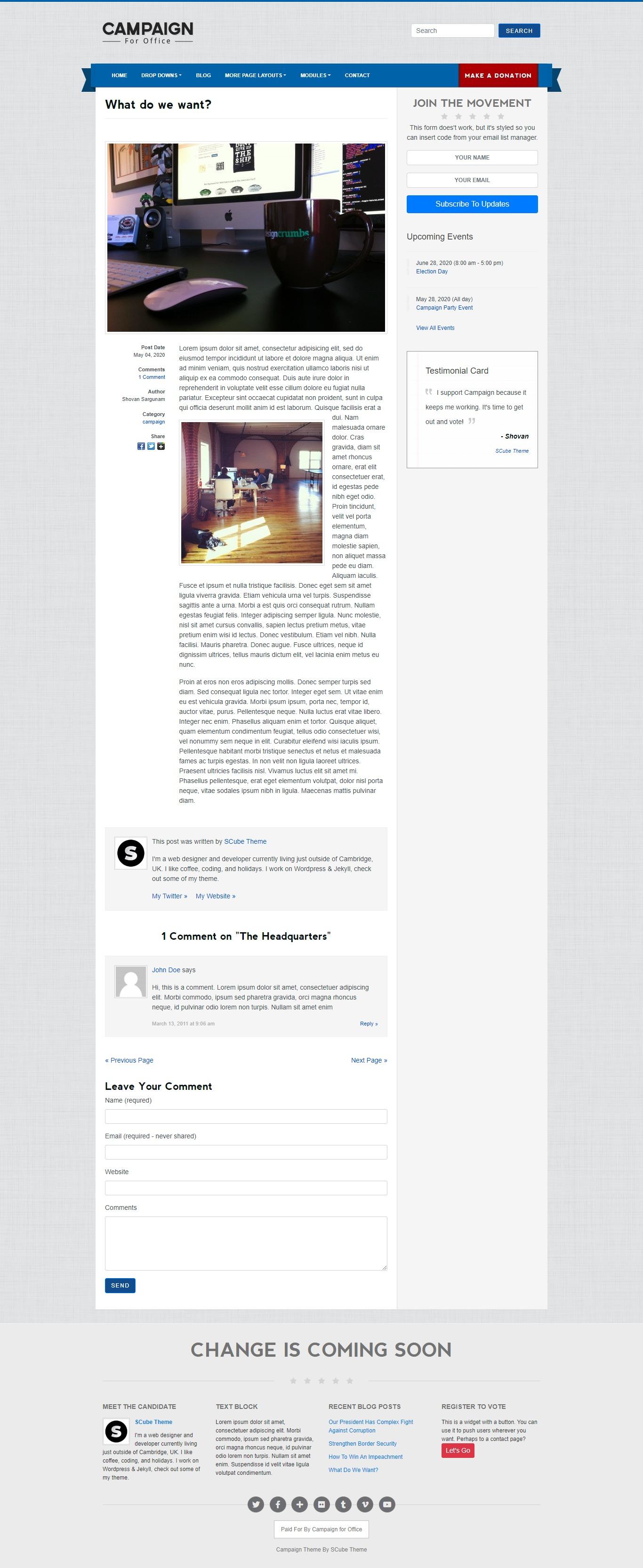 Campaign -Jekyll Blog Single Page