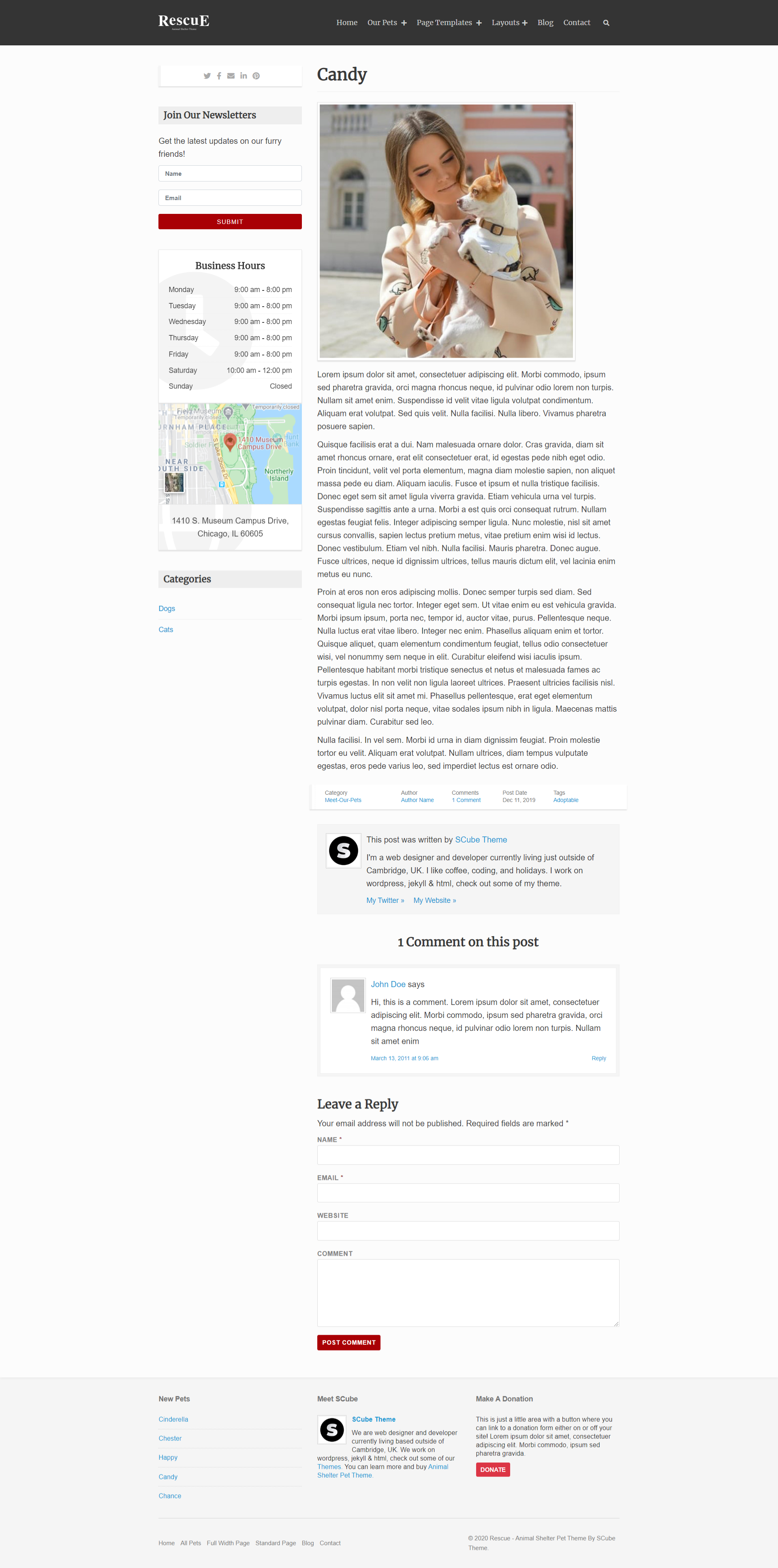 Blog with Left Sidebar