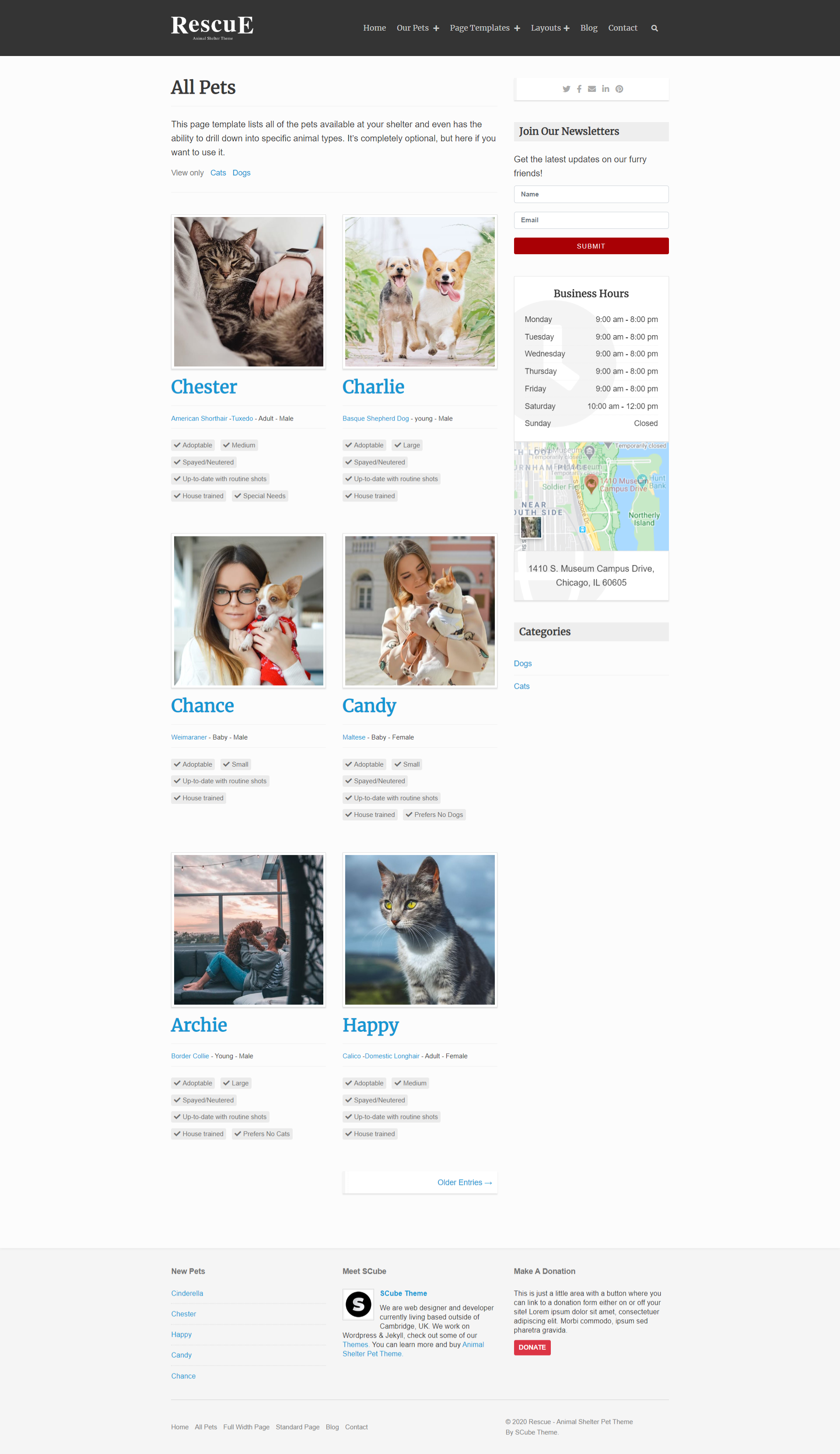 Pets All Page
