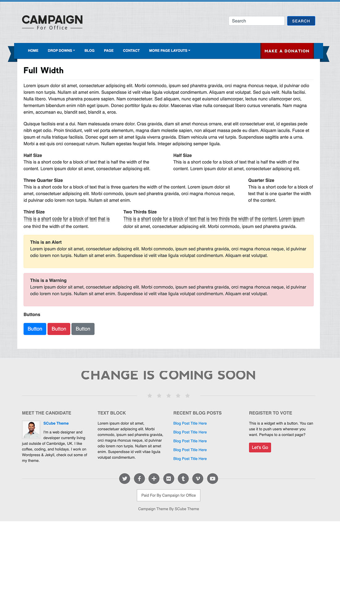 Page full Best Political WordPress Themes 2020