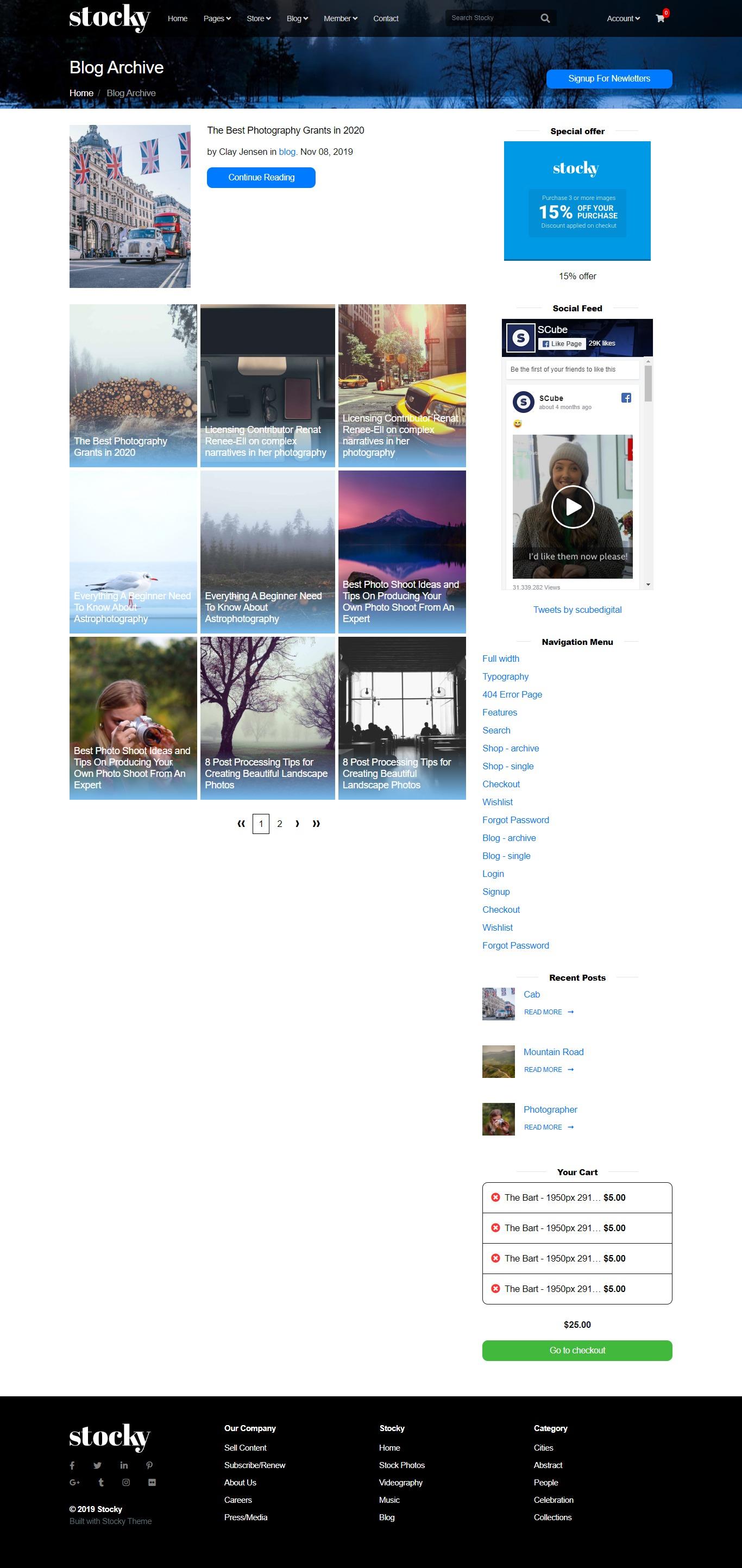 Stocky Jekyll Blog Theme Page