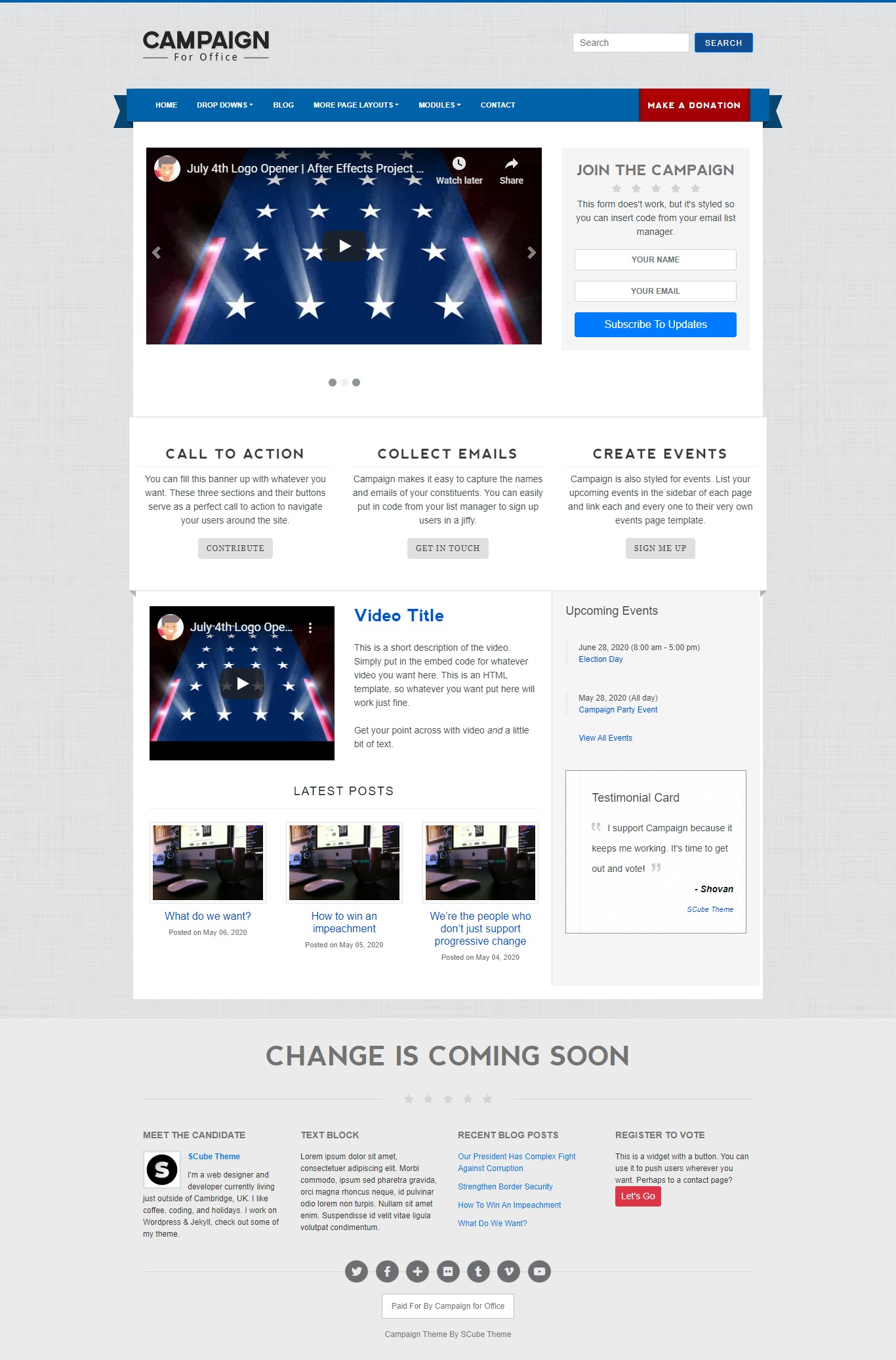 Campaign Political Jekyll Website Template