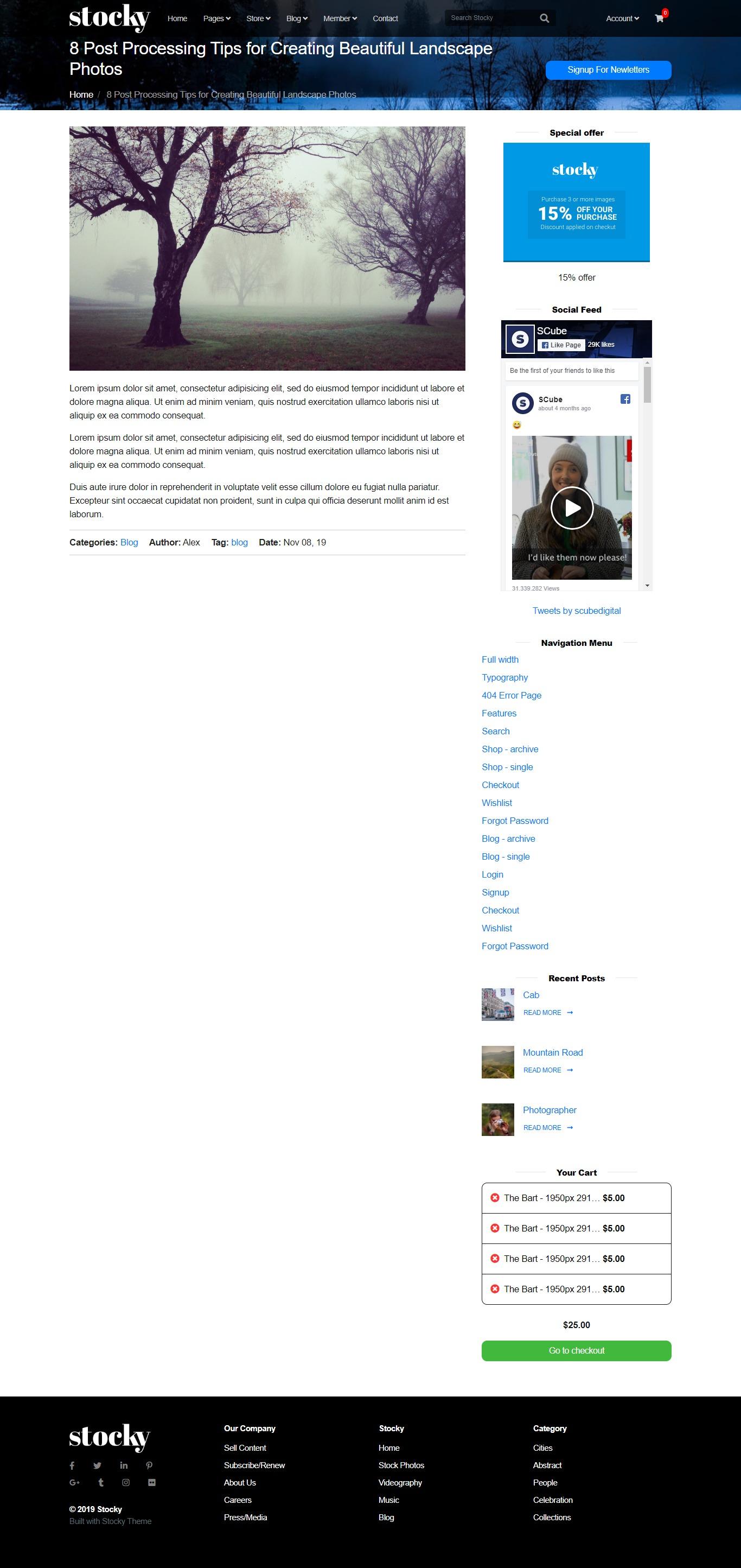 Stocky jekyll Blog Single Page