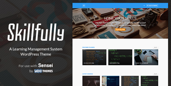 Skillfully - A Learning Management System Theme Wordpress