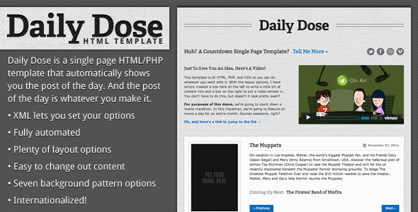 Daily Dose - Automatic Changing HTML Template