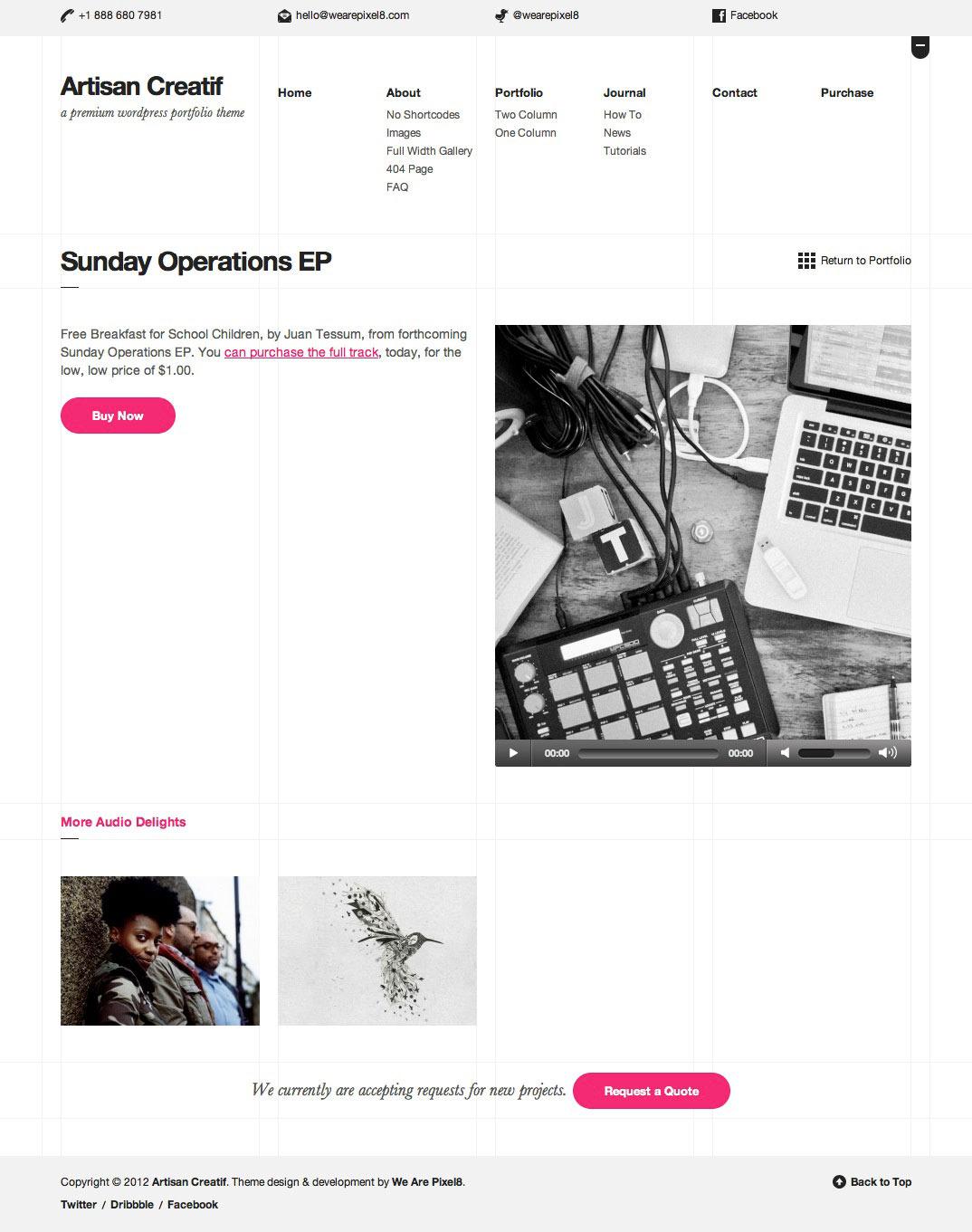 Artisan Creatif portfolio light
