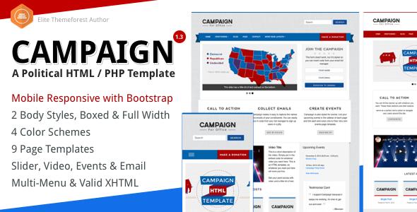 Campaign - Political HTML Theme