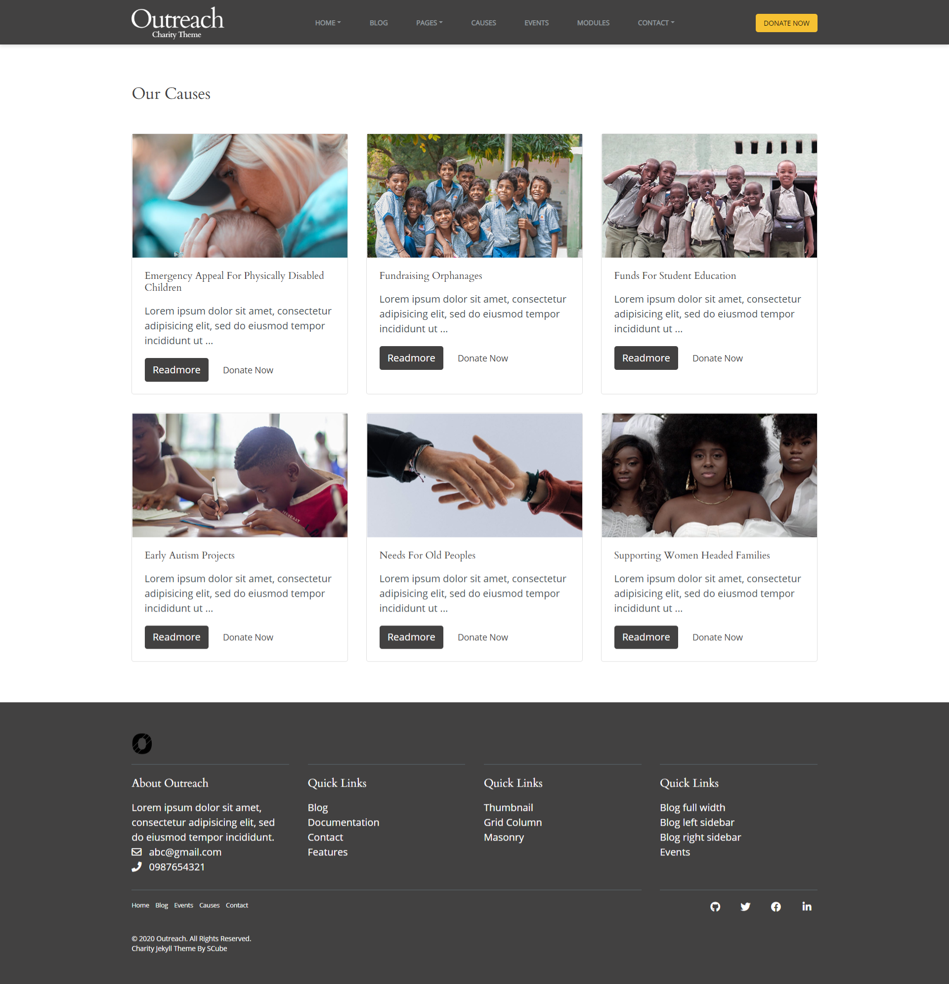 Causes Page