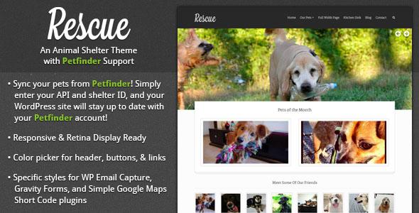 Rescue - Animal Shelter Theme Wordpress