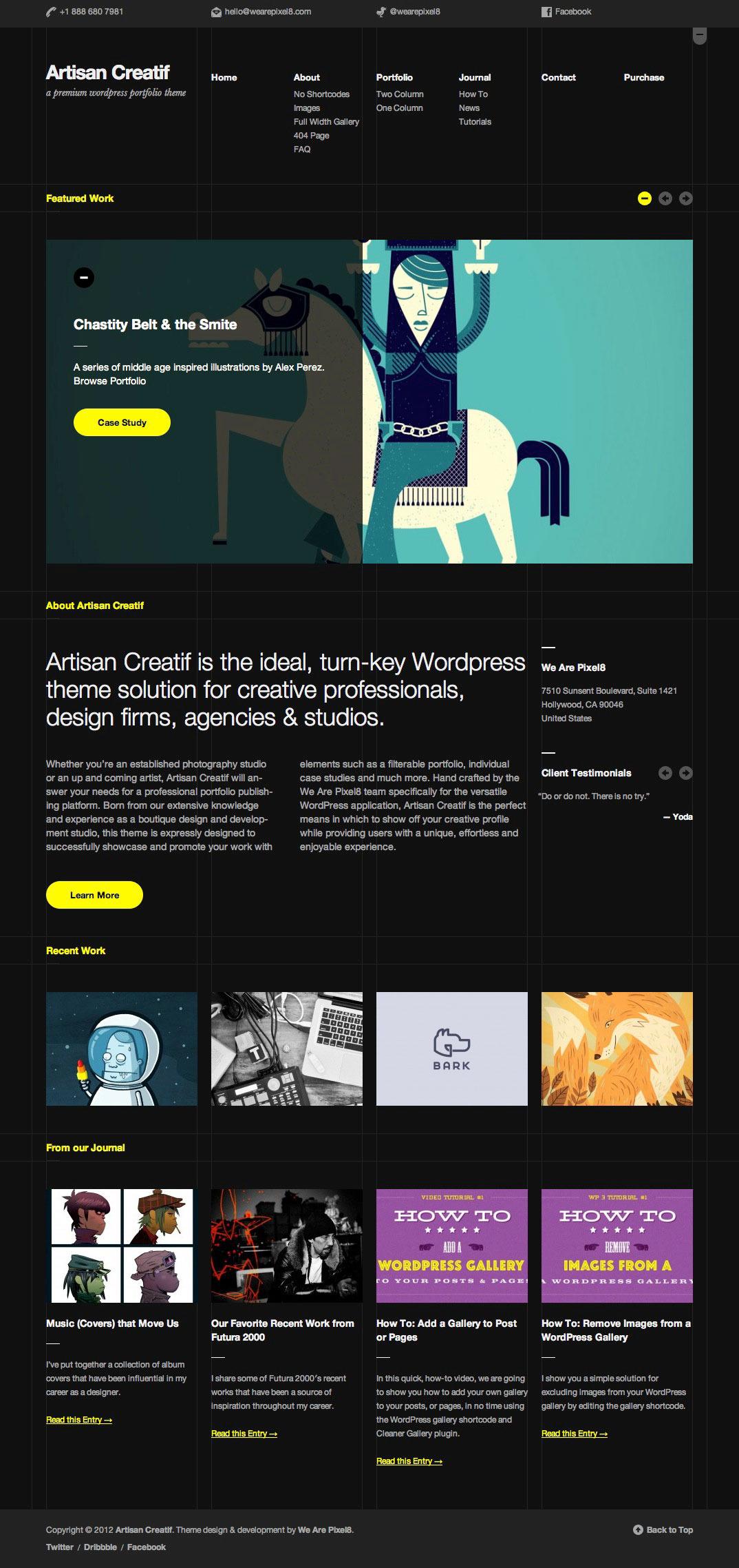 Artisan Creatif home dark