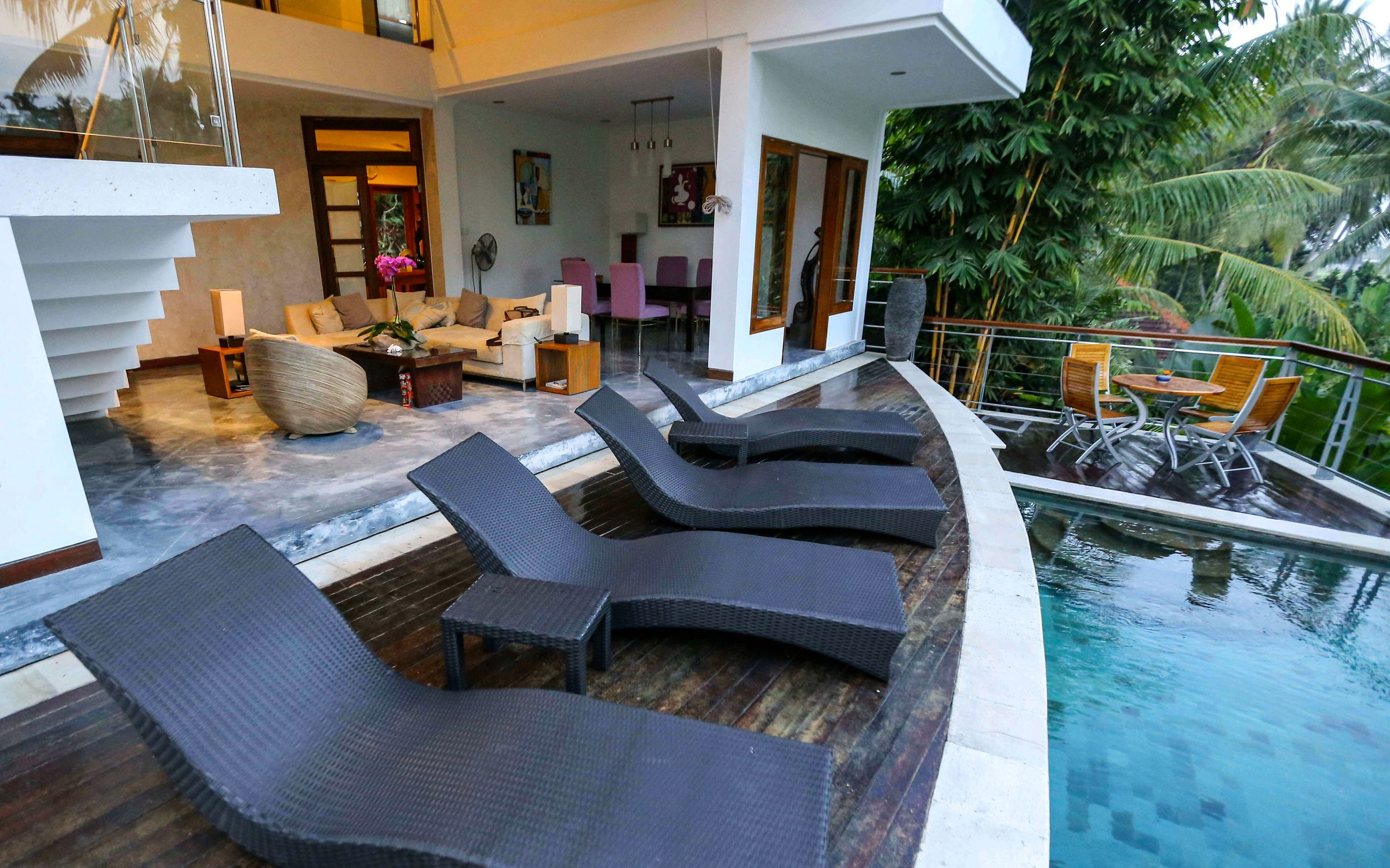 Living Room and Pool Photo