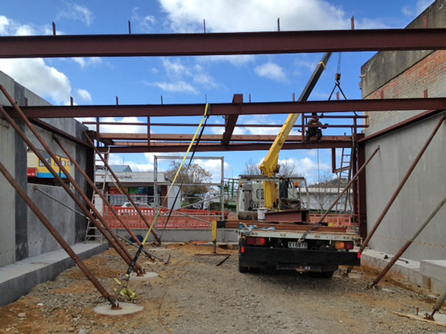 Waihi Library - Early Stages