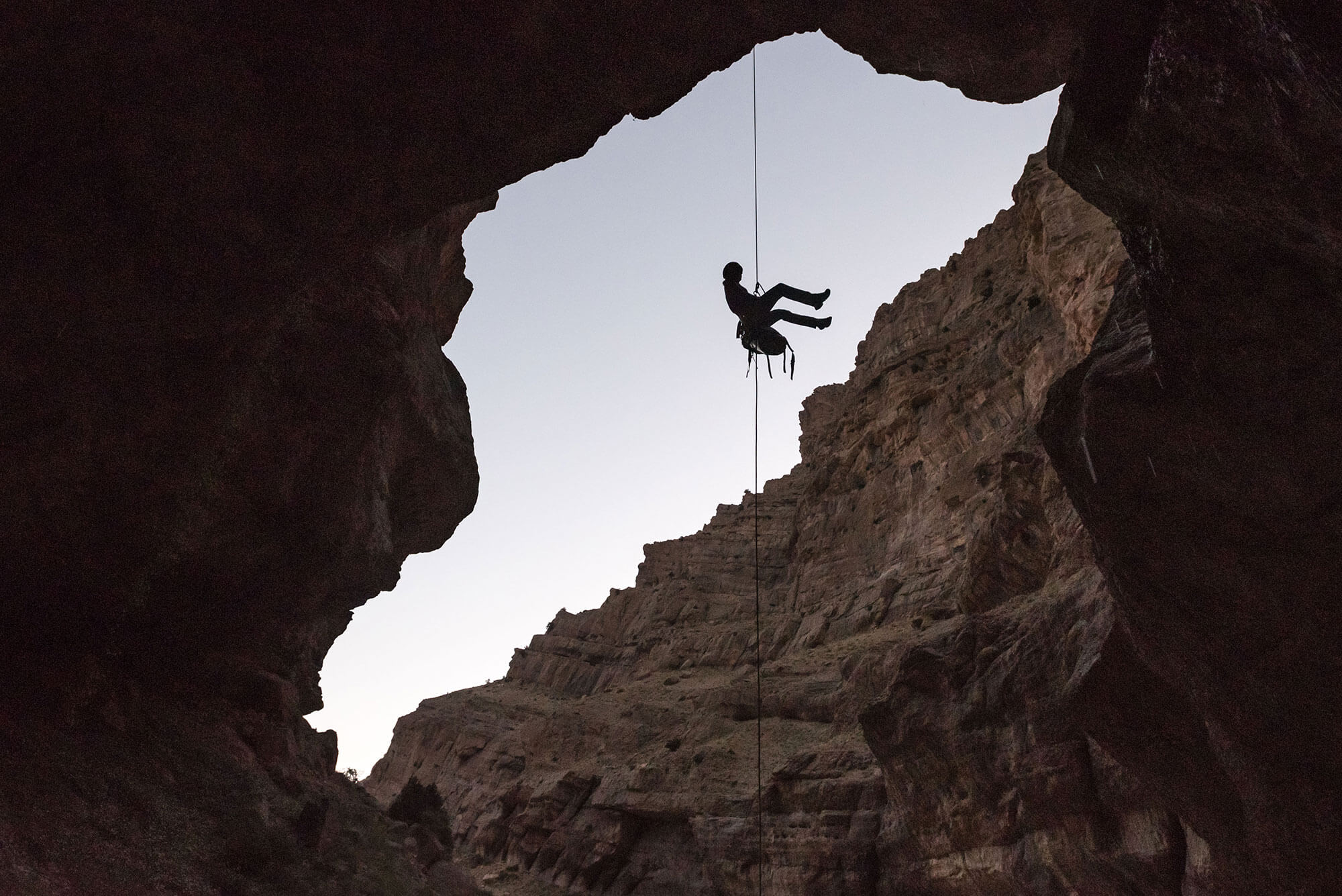 Canyoning in Iran with Gus Schiavon from Rebelay canyoning