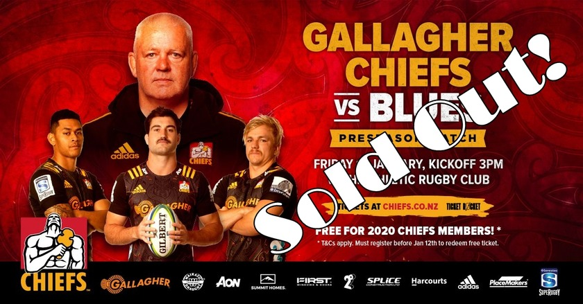 Chiefs vs Blues at Waihi SOLD OUT!