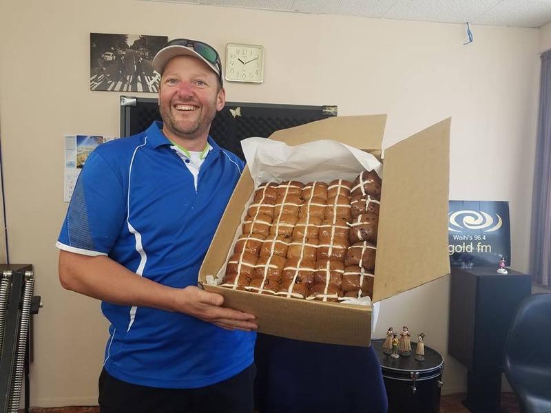 Waihi Beach Bakery Hot Cross Buns ready to taste test