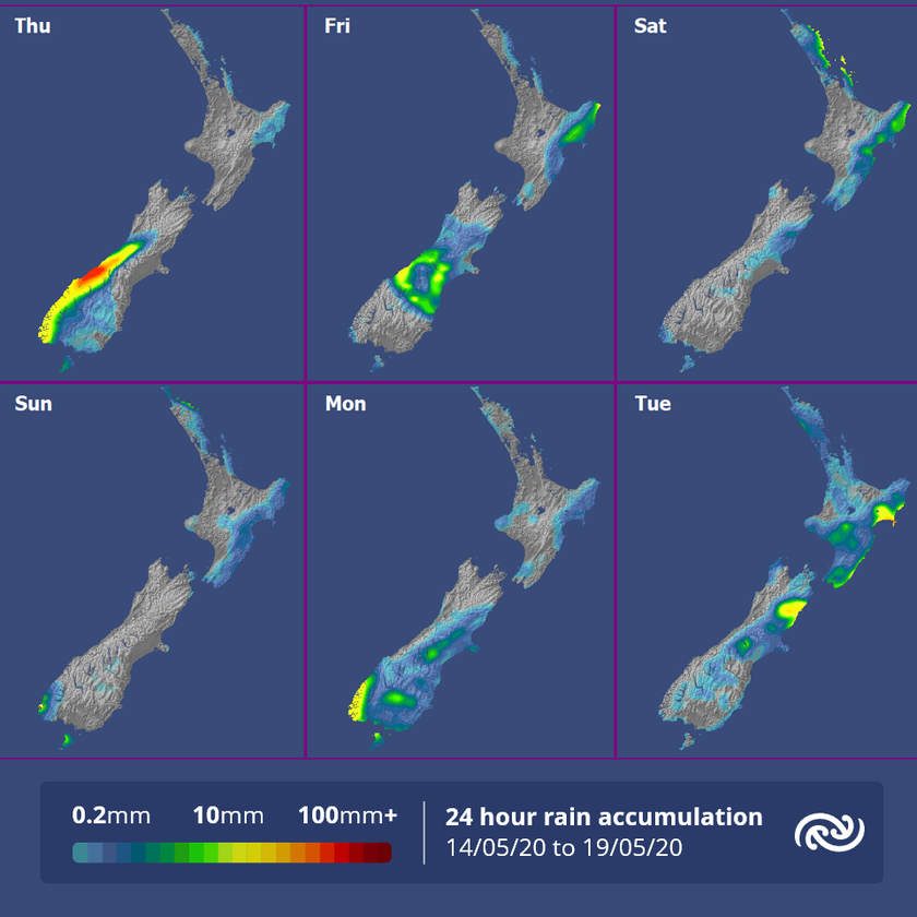 A mostly fine weekend, but showers affect the east of the North Island