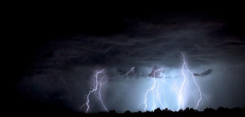 Thunder & lightning very very frightening