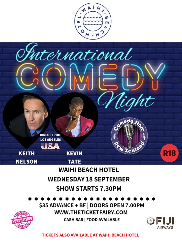 Crack Up to US Stand Ups @ Waihi Beach Hotel next Wednesday, September 18