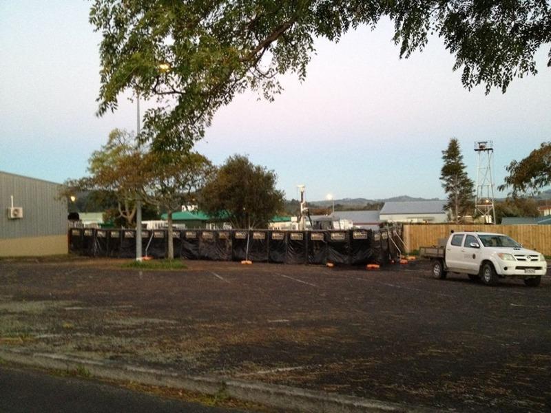 Drill rig installs water measuring tool