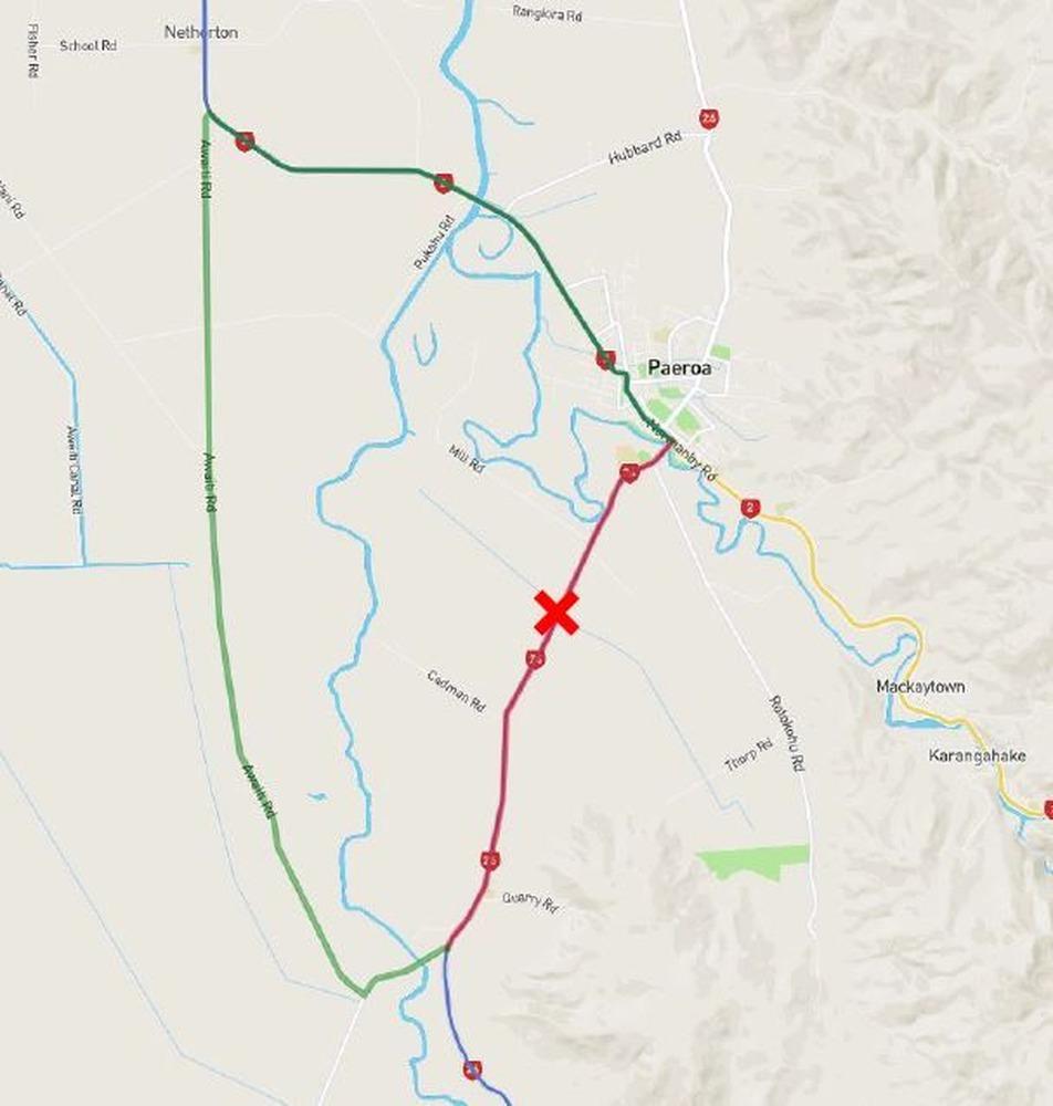 SH26 bridge repair south of Paeroa closure update