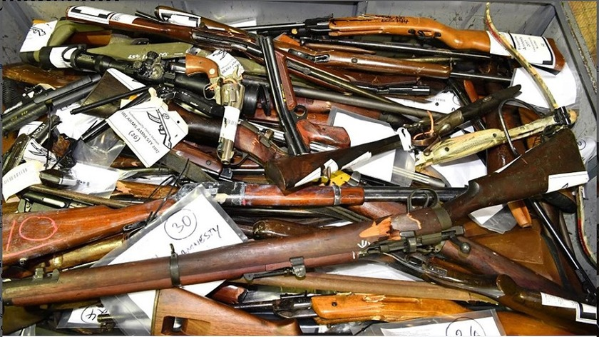 Firearms owners hand in 12,183 firearms at over 100 events held nationwide