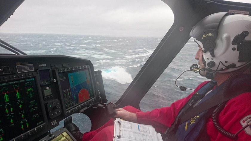 Westpac Rescue Helicopter airlifts 4 after yacht sinks off Cape Brett