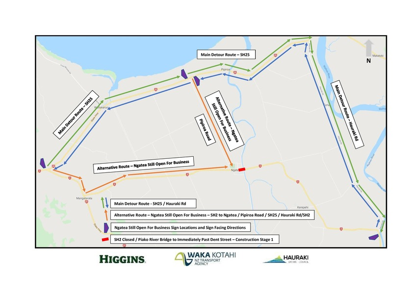 Ngatea main street upgrade – stage one underway