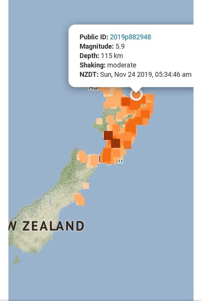 5.9 earthquake felt by over 5000