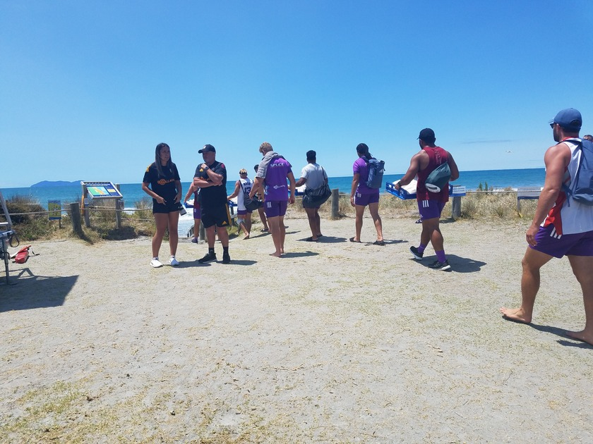 Catching up with the Gallagher Chiefs at Waihi Beach