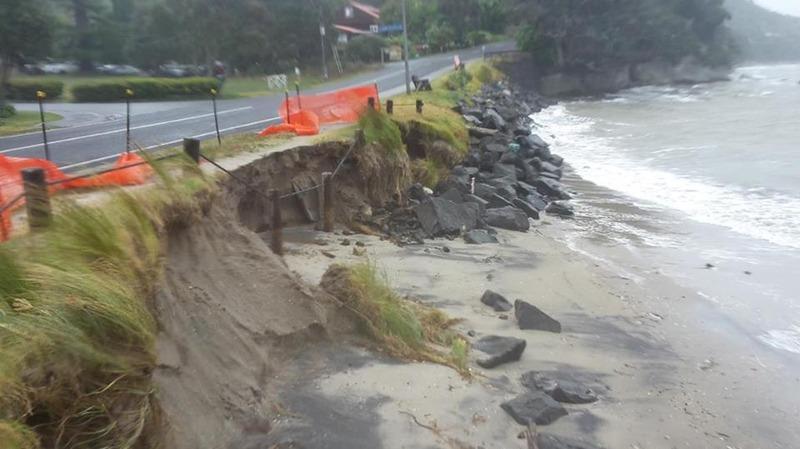 TCDC mitigating beach erosion at Flaxmill Bay