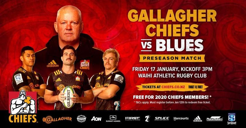 Chiefs vs Blues at Waihi seliing fast