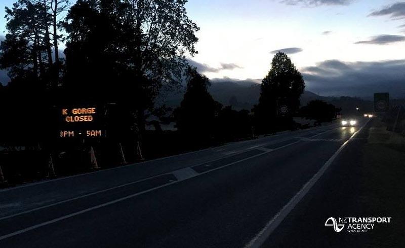 Further night time closures State Highway 2 Karangahake Gorge