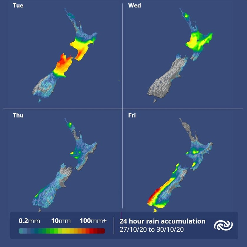 Muggy conditions remain for upper North Island