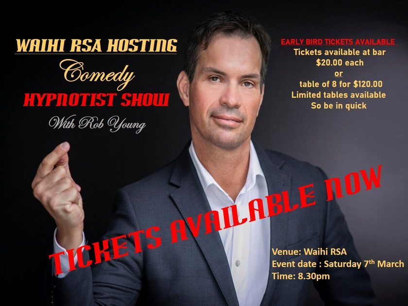 Hypnotic show time coming to Waihi RSA
