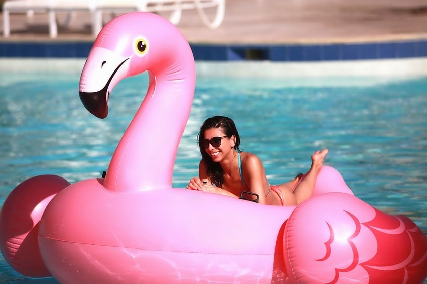 Please Leave Your Inflatable Flamingo At The Pool