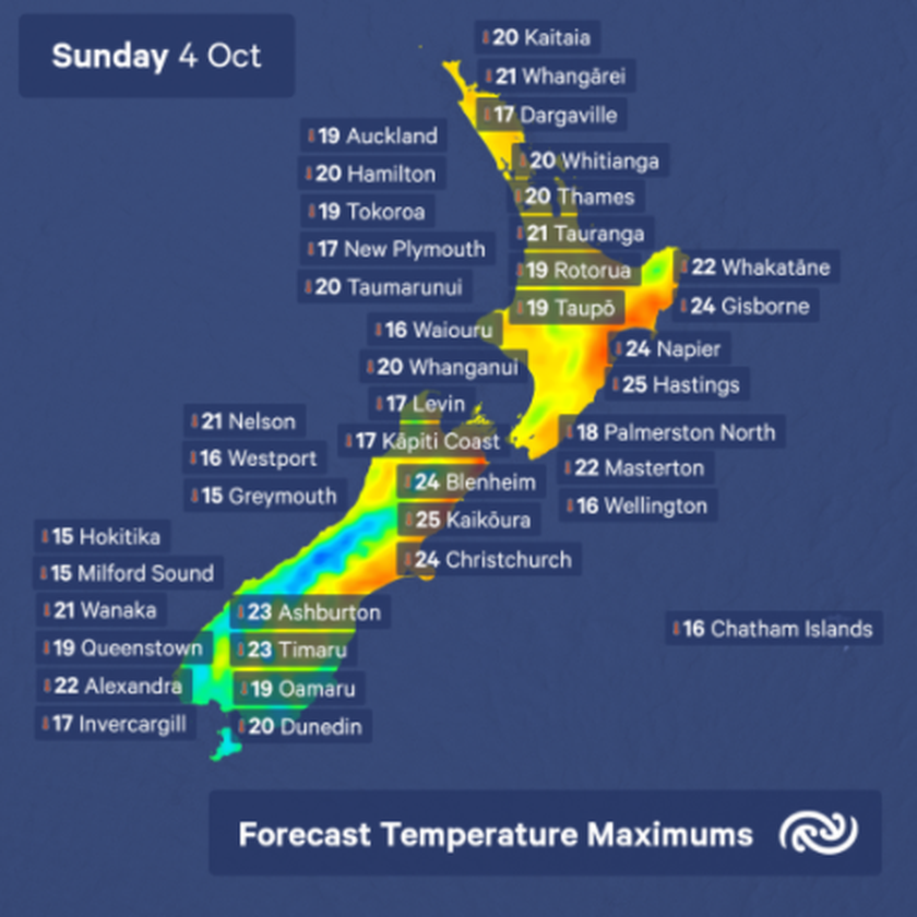 Windy in the south, settled in the north, warmth returns to Aotearoa