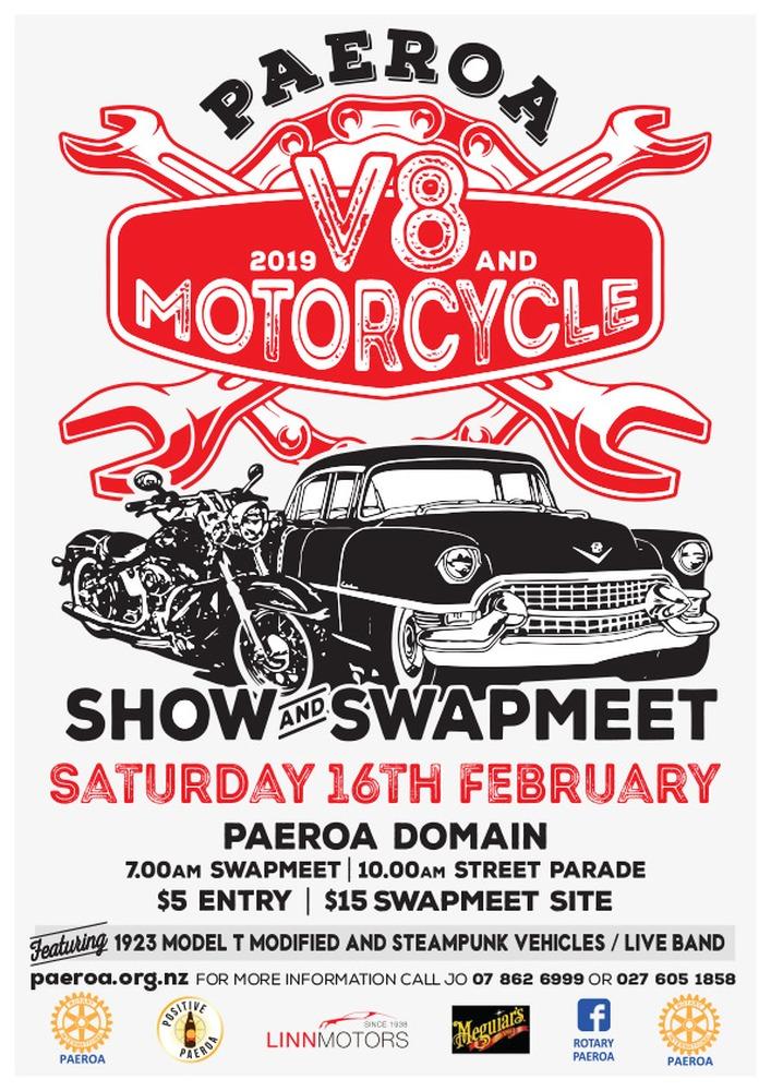 V8 and Motorbike Show and Swap meet heads to Paeroa this weekend
