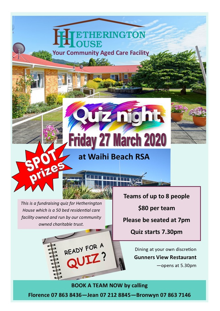 Getting quizzical for Hetherington House fund raiser