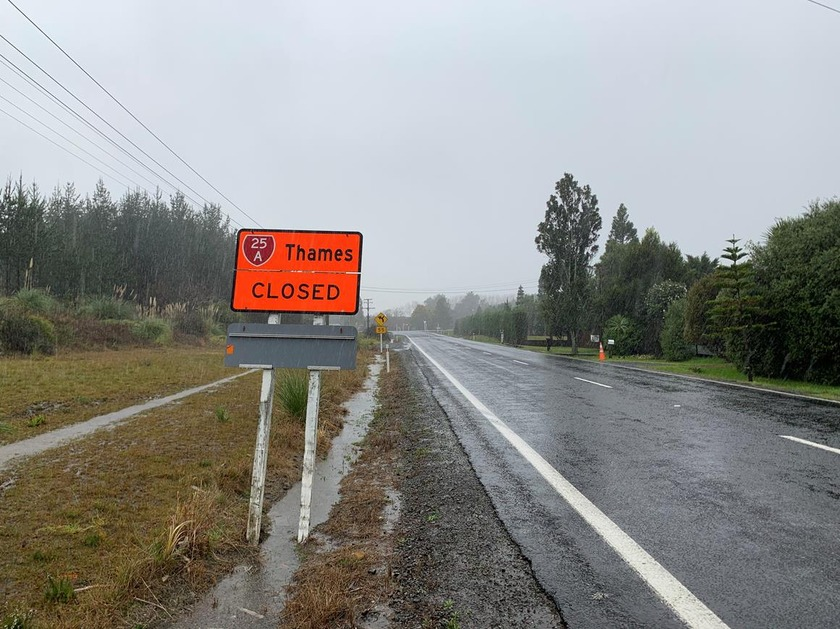 Thames Coromandel road and weather afternoon updates