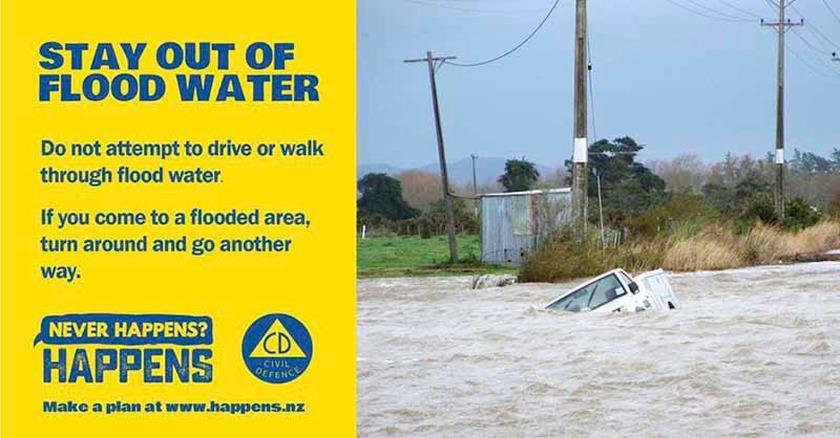 Wet end to school holidays on the Coromandel